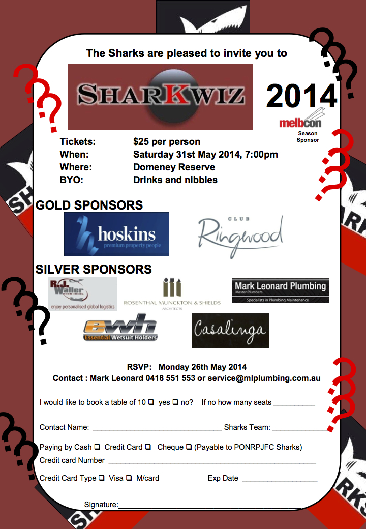 Sharkwiz Invitation 2014