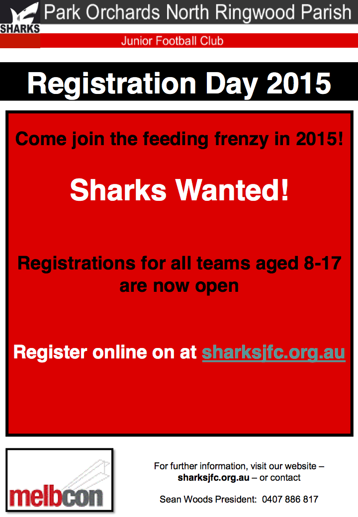 Sharks Registration Day 2015 V1.3