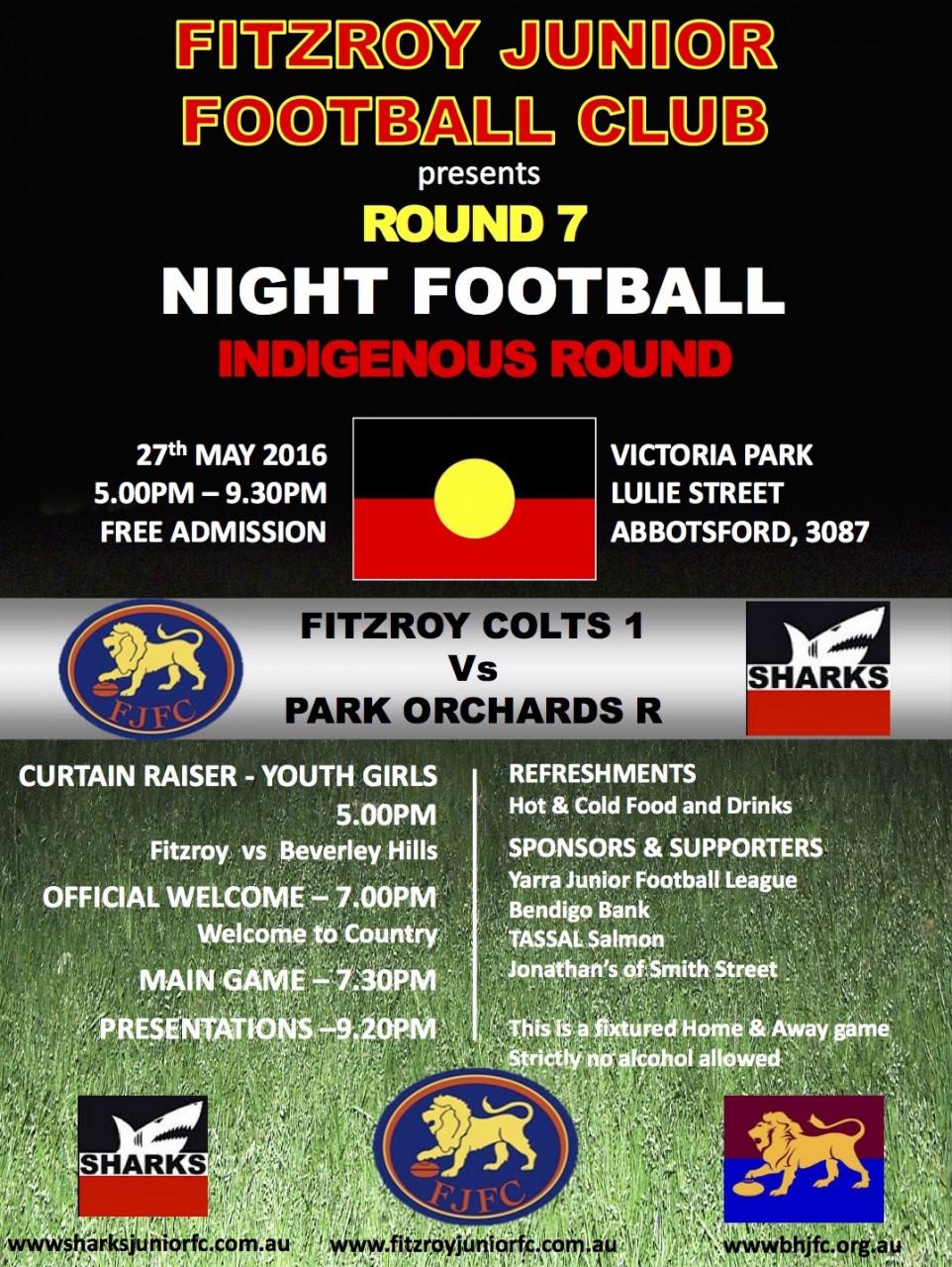 2016 YJFL indigenous round
